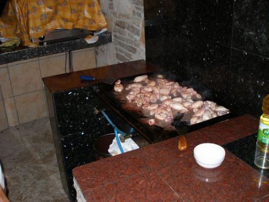 Barbecue in the Apartments Murano Rovinj Croatia 2