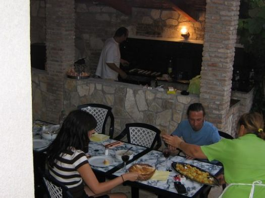 Barbecue in the Apartments Murano Rovinj Croatia 6