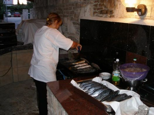 Barbecue in the Apartments Murano Rovinj Croatia 9