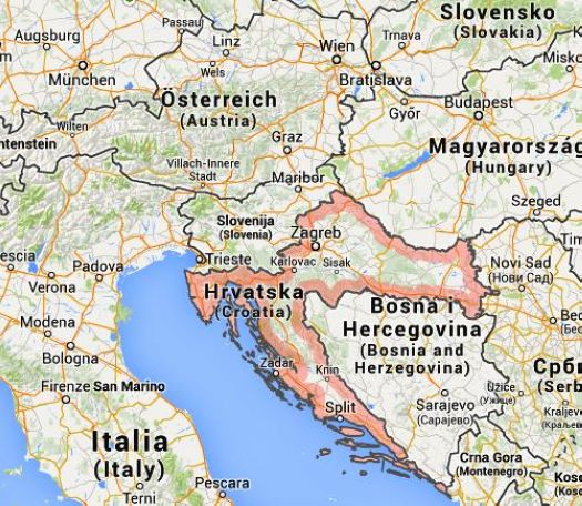 Cartina Della Slovenia E Croazia.La Croazia E Un Piccolo Paese Per Una Vacanza Fantastica